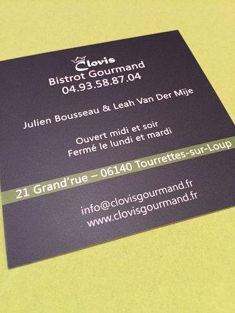 Bistrot Gourmand Clovis : God mat og hyggelig betjening. Verdt en tur!!!!