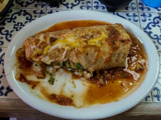 Alhambra, CA: The vegetarian burrito with a great sauce!