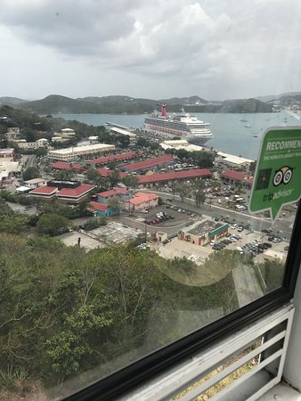 South Coast, St. Thomas: Arial view from Paradise Point