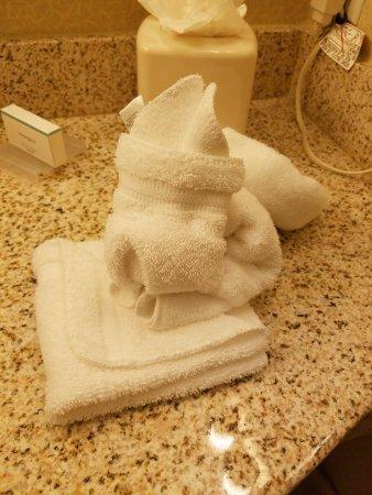 Hilton Garden Inn Miami Airport West: Bathroom Bunny
