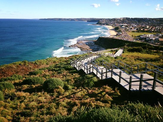Newcastle, Australia: Spectacular views over the ocean and down the coastline.