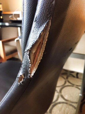 Comfort Inn - Yarmouth: Worn and torn in room #141