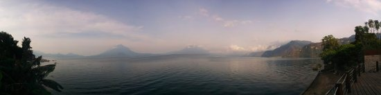 Lake Atitlan, Guatemala: Really early in the morning, the clearest view that I could get.