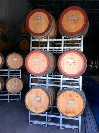 Pokolbin, Australia: Barrels full of wine