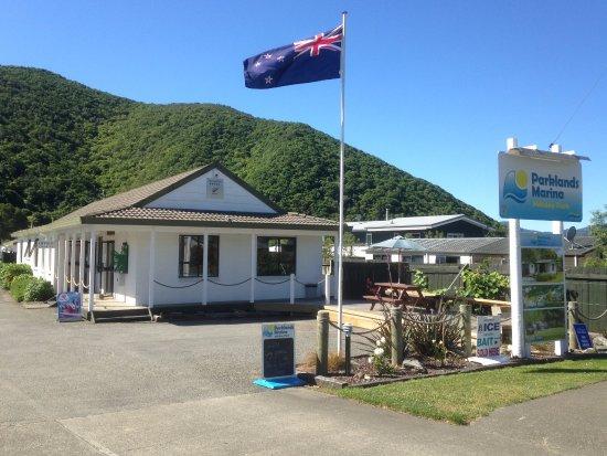 Waikawa, Nouvelle-Zélande : Parklands entrance