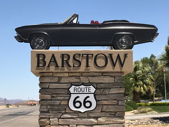 Barstow Route 66 acknowledgement
