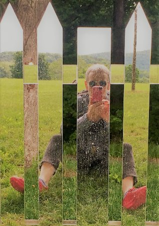 New Windsor, NY: Be sure to sit down in the grass opposite the mirrored picket fence for a photo op!