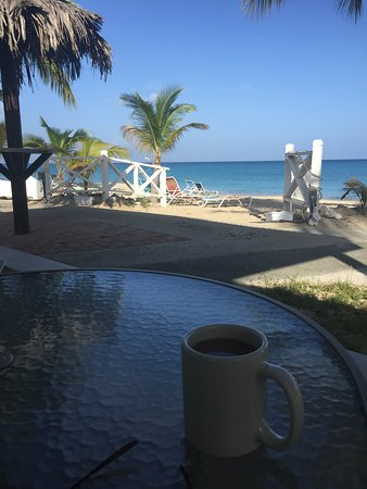 Cottages By The Sea: Morning coffee views from Caribe