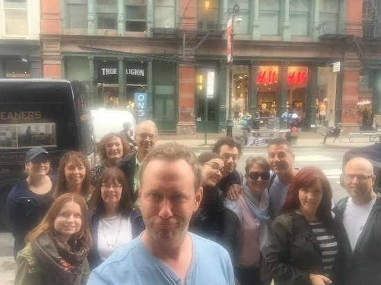 Real New York Tours: Trey and our group!
