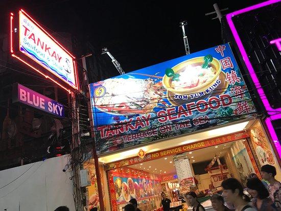 Tankay: Restaurant signage