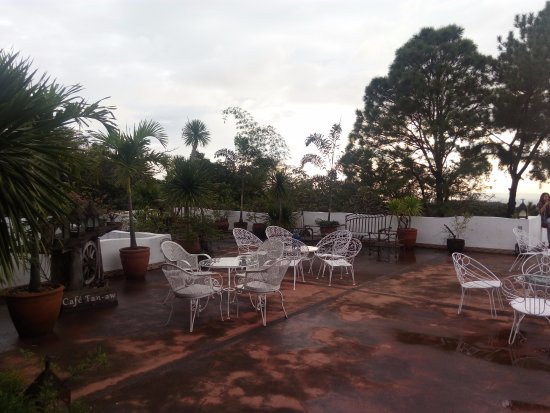 Antipolo City, Philippines : Roof top patio and garden at Pinto Art Museum