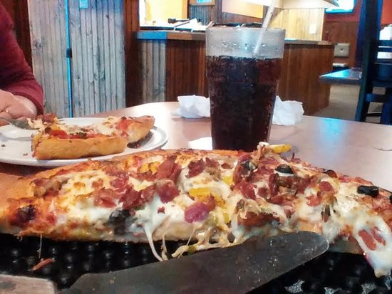 Deluxe pizza at Ashland's East of Chicago