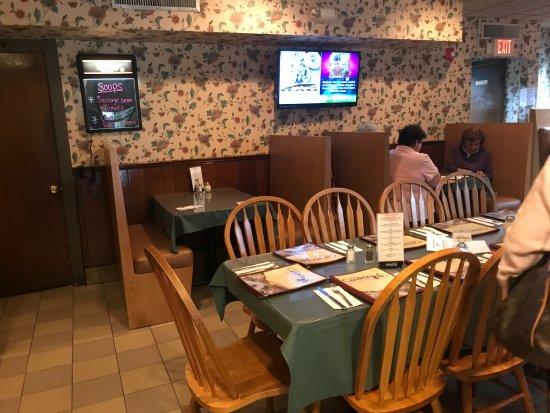 Lawrenceville, NJ: Inside seating, table for 10 shown