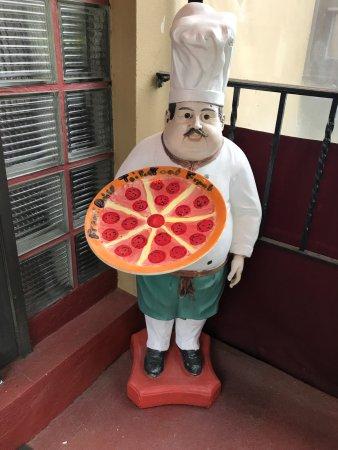 Lawrenceville, NJ: Candela Chef statue at front door