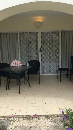 Bougainvillea Beach Resort: The room has a little patio area since its a ground floor room