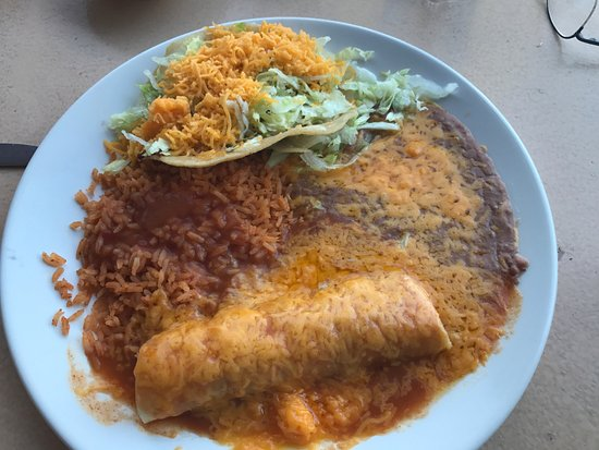 Corona, CA: Here is the enchilada taco combo meal.