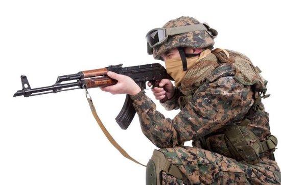 Expérience de tir de l'armée...