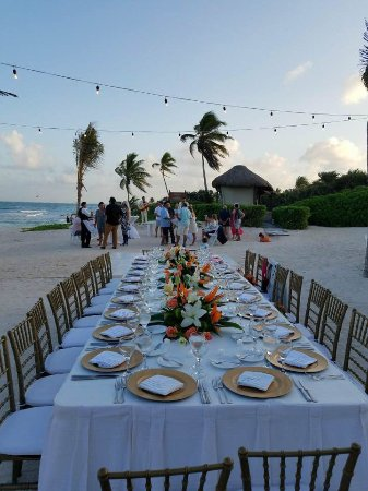 Dreams Tulum Resort Spa Wedding Reception On Beach