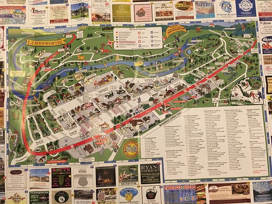 Tourist map of Leavenworth as of May 2017   Picture of Leavenworth