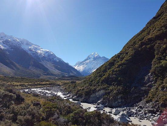 Mt. Cook Village, นิวซีแลนด์: Ausblick auf Mount Cook