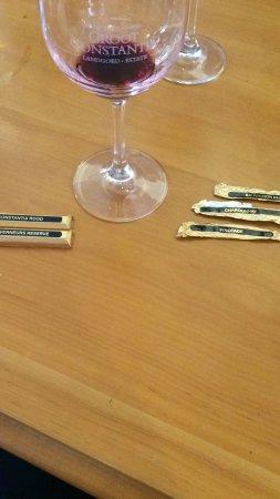 Constantia, جنوب أفريقيا: Choklad + vin