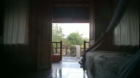 Puri Rama Homestay: looking out to the balcony