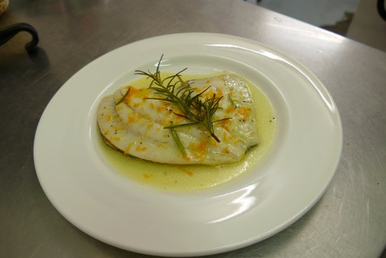 Take Thyme Fish Restaurant: Turbot with Orange Zest and Rosemary Butter