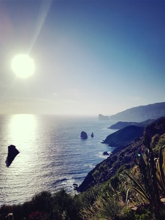 Iglesias, Italy: Handyphoto bei Sonnenuntergang