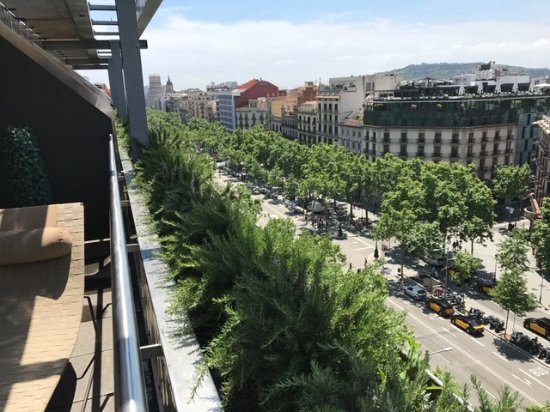 Passeig de gracia from room terrace picture of hotel for Hotel paseo de gracia