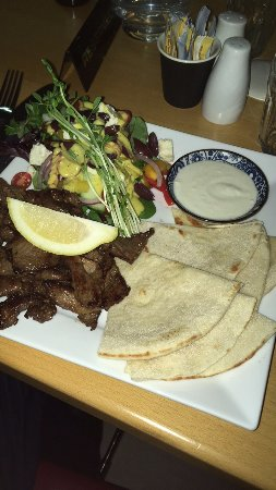 Ulverstone, Australia: Lamb Souvlaki which you assemble yourself. The Lamb was great.