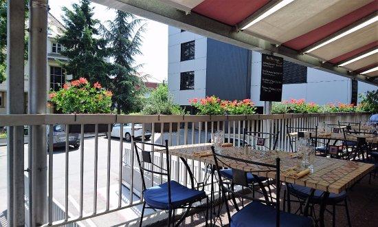 Les terrasses d 39 illkirch vue de la table photo de - Restaurant la table de l ill illkirch ...