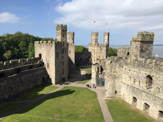 Caernarfon, UK: The interior of the castle