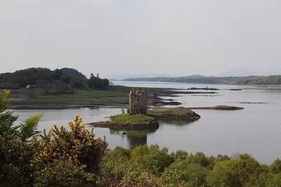 Appin, UK: View on the castle