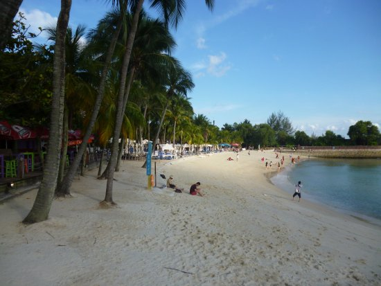 Siloso Beach In Sentosa Singapore