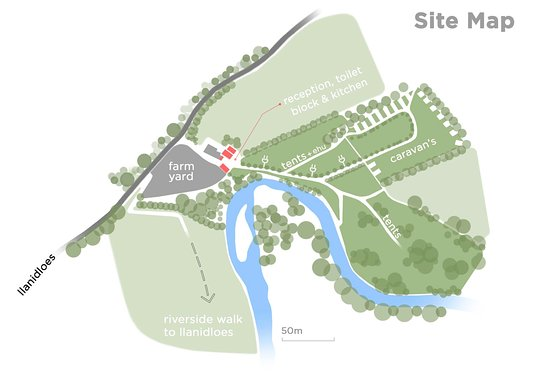 Llanidloes, UK: Site Map