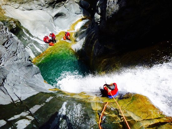 L'Etang-Sale, Reunion Island: Canyoning Bras Rouge