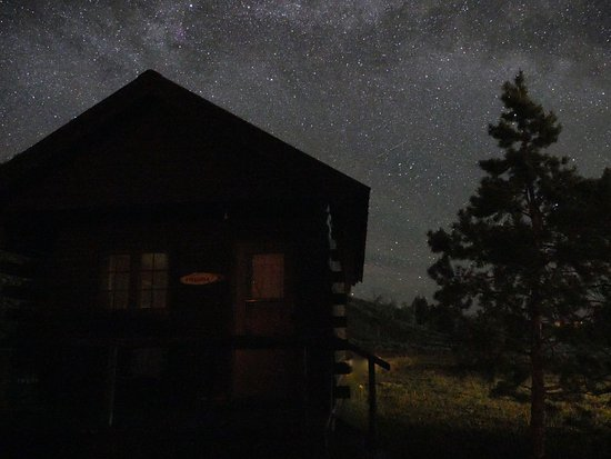 Parade Rest Ranch: Night Stars by cabin