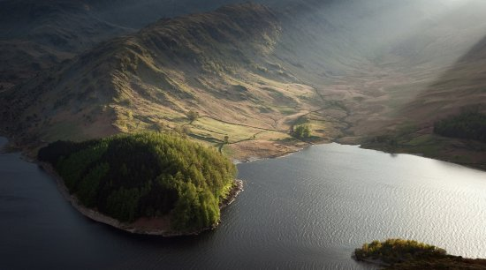Askham, UK: Evening light, Haweswater, Lake District