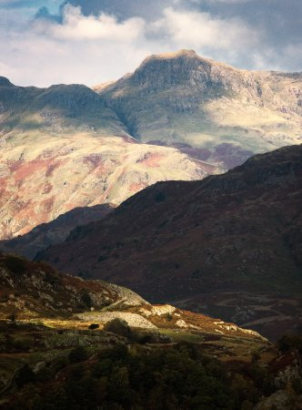 Askham, UK: The Langdale Pikes, Lake District