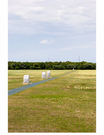 Wright Brothers National Memorial: Distance markers of the First Four Flights