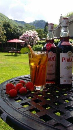Borrowdale, UK: Pimms & Strawberries.....why not?