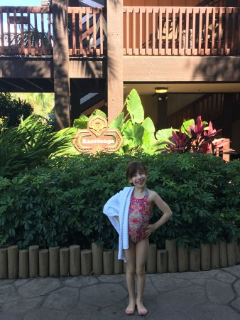 Disney's Polynesian Village Resort: Entering our longhouse steps from the pool