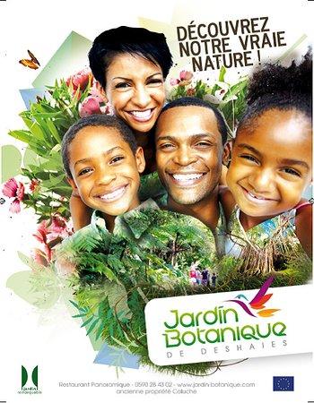 le jardin botanique de Deshaies est très prisé des enfants car c'est un parc floral, et animalie