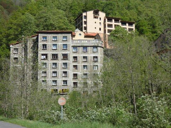 Prats de Mollo la Preste, Γαλλία: arrière de l'hôtel où donnent toutes les chambres