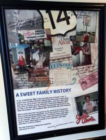 a bit of history about Julie Ann's Frozen Custard