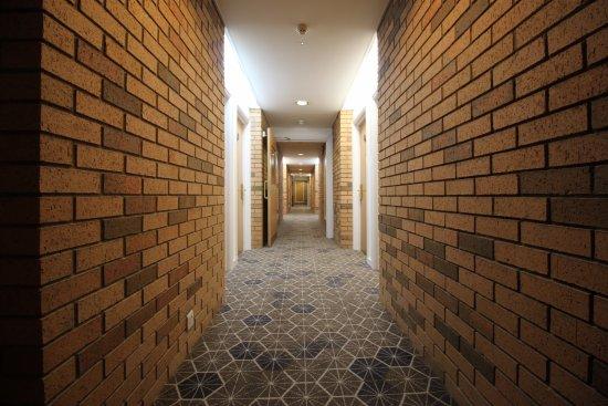 Bellshill, UK: A long corridor