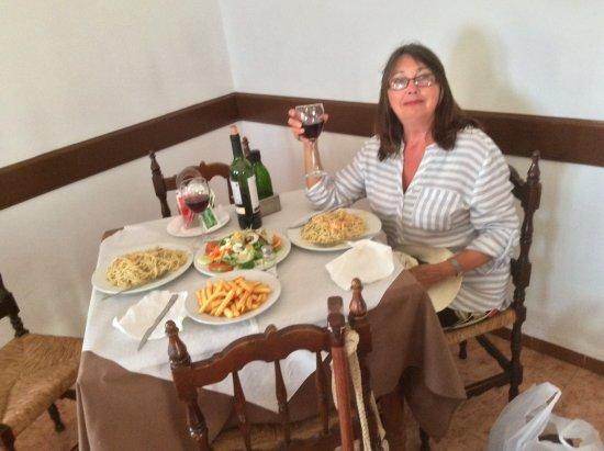 Maro, Spain: Me eating - again!