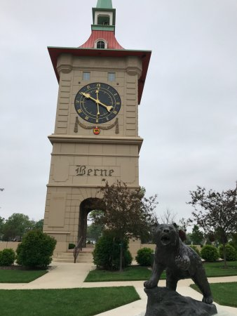 Berne, IN: Clock Tower can be seen from the Canopy Room