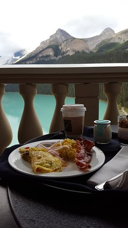 Brought breakfast back to our room and sat on the balcony!