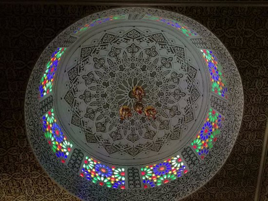 Riad Ibn Battouta: The most beautiful ceiling in a hotel room ever
